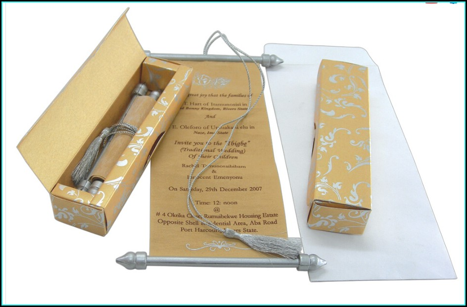 Scroll Wedding Invitations Wholesale