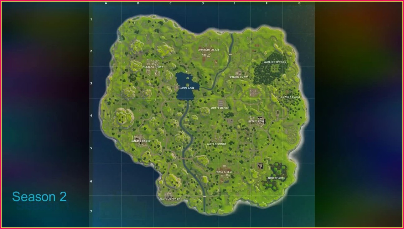 Season 2 Fortnite Mappa