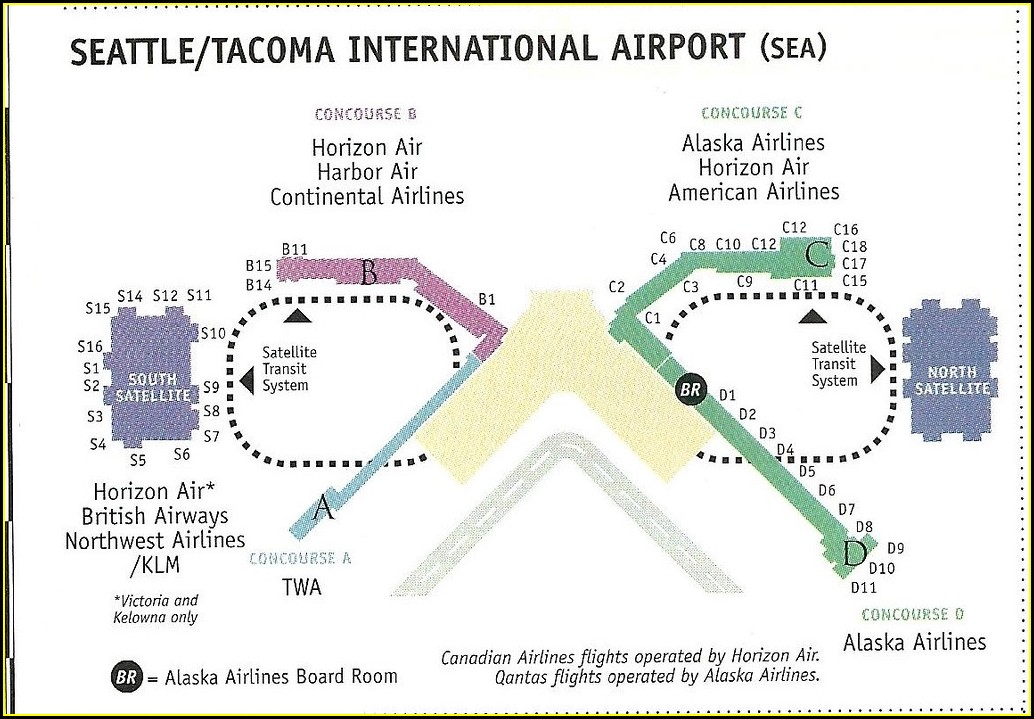 Seatac Airport Map Alaska Airlines
