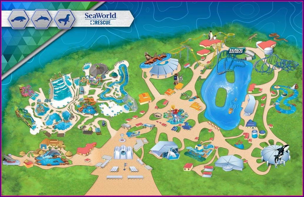 Seaworld Aquatica San Antonio Map
