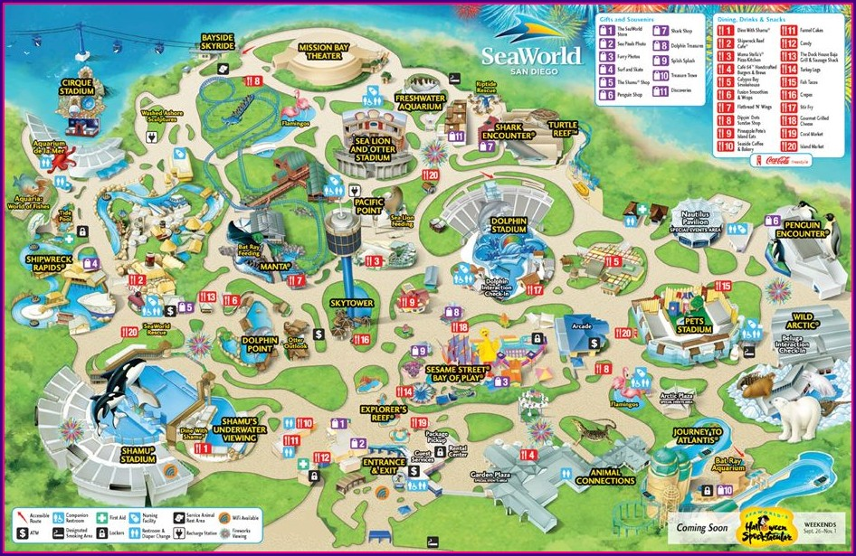 Seaworld San Antonio Map Pdf
