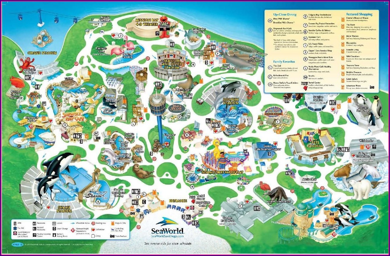 Seaworld San Antonio Map