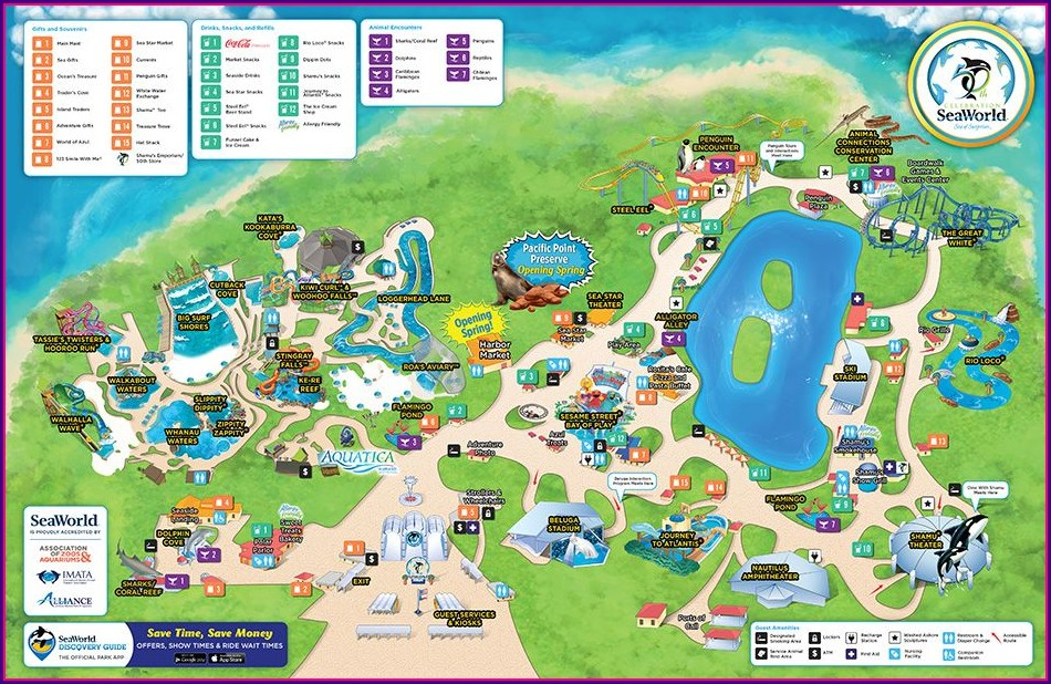 Seaworld San Antonio Park Map