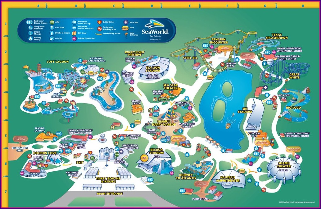 Seaworld San Antonio Tx Map