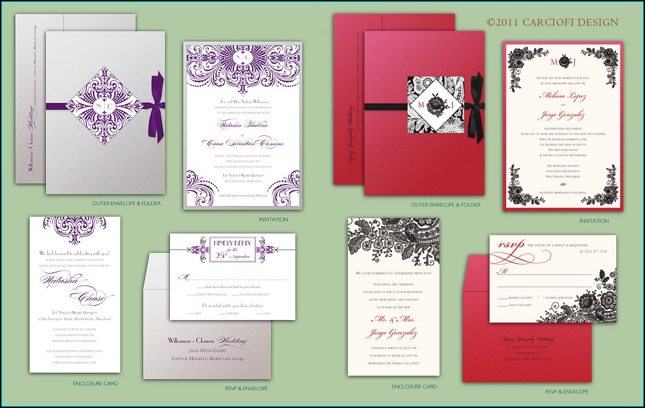 Self Print Wedding Invitation Kits