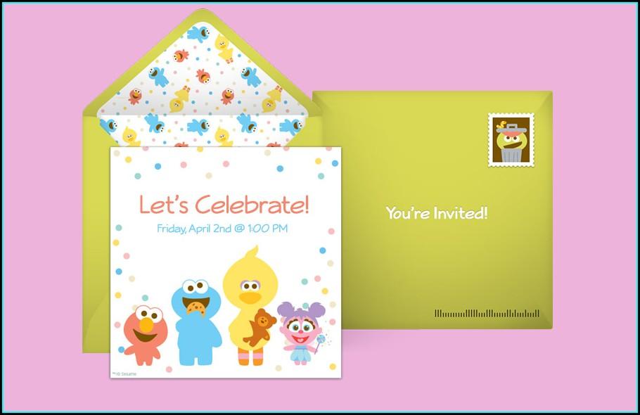 Sesame Street Invitations Online Free