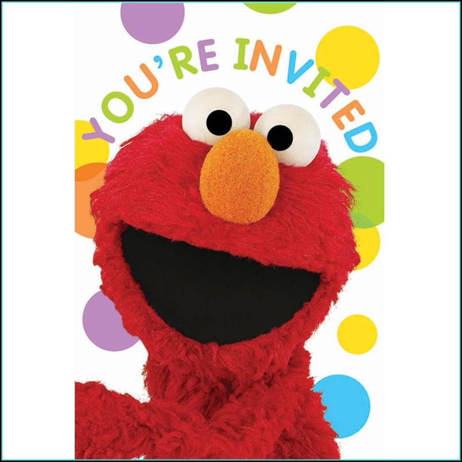 Sesame Street Invitations Walmart