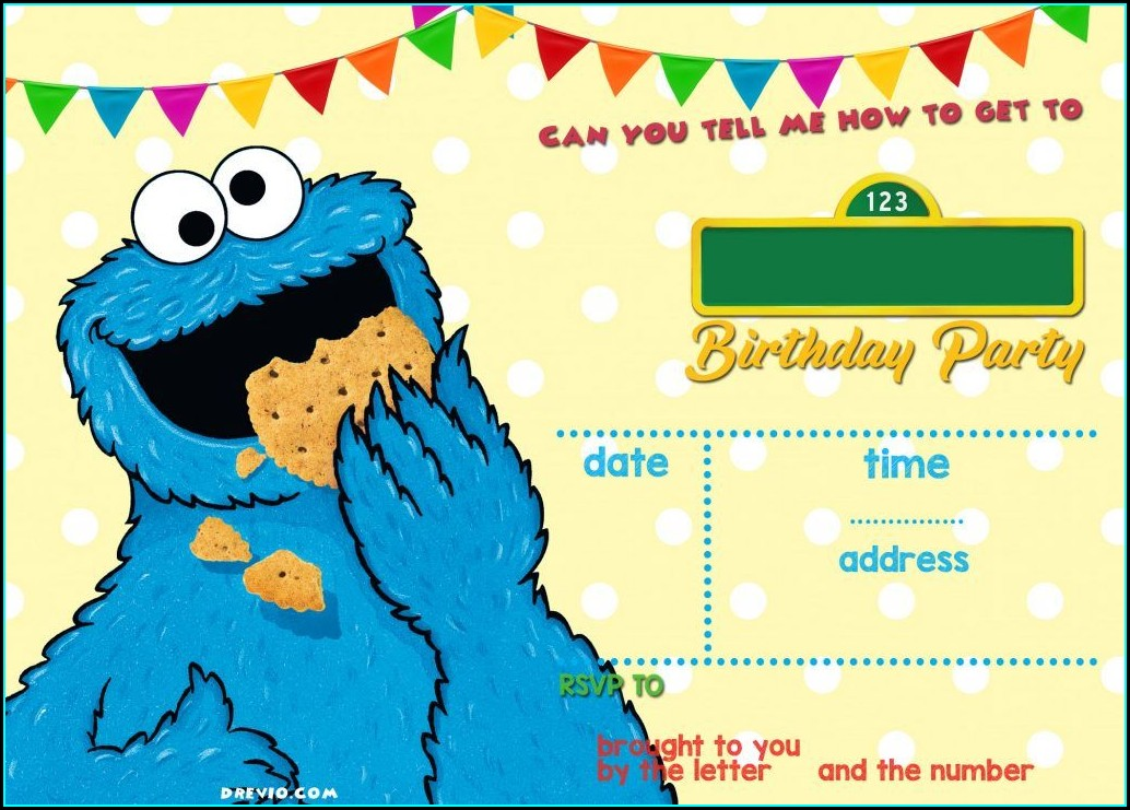 Sesame Street Online Birthday Invitations