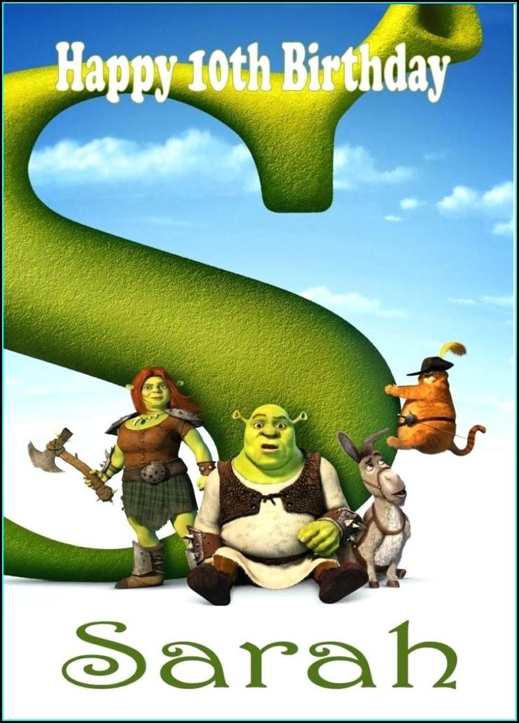 Shrek Birthday Invitations Free