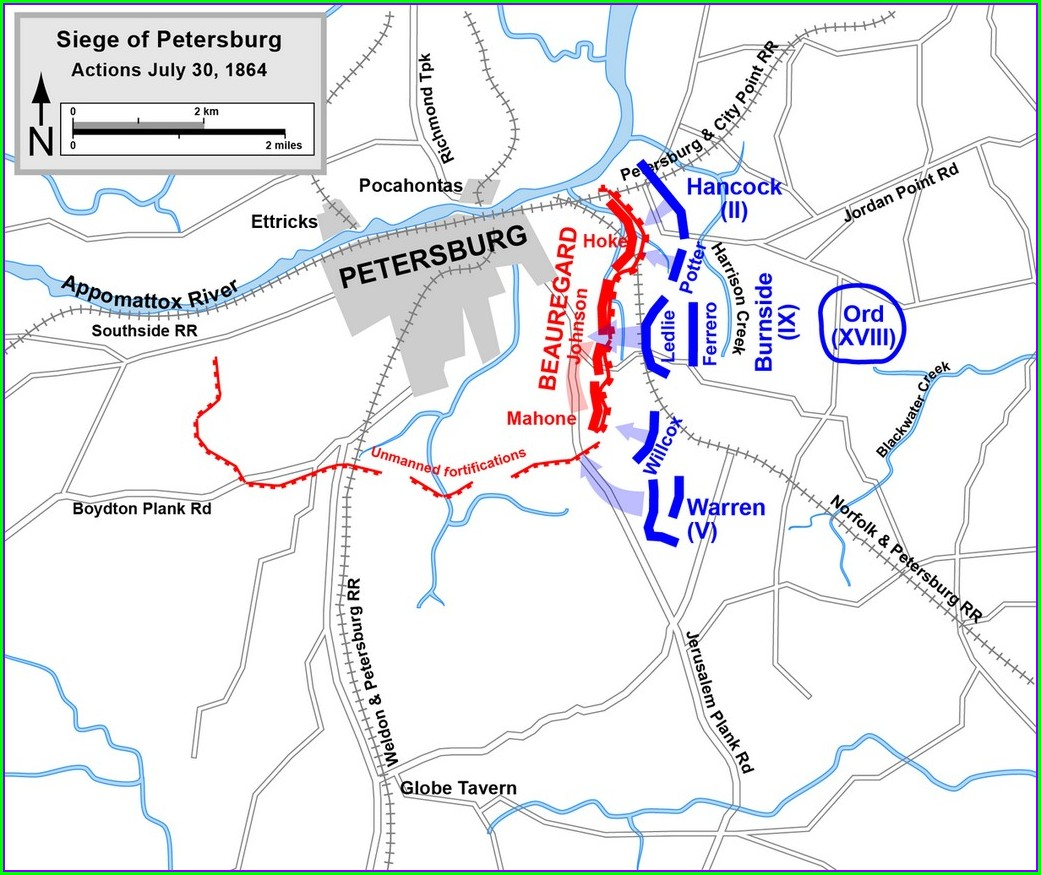 Simple Battle Of Vicksburg Map