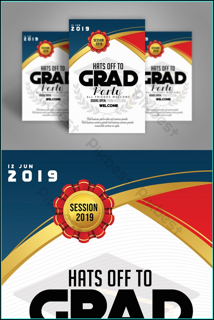 Simple Graduation Invitation Templates