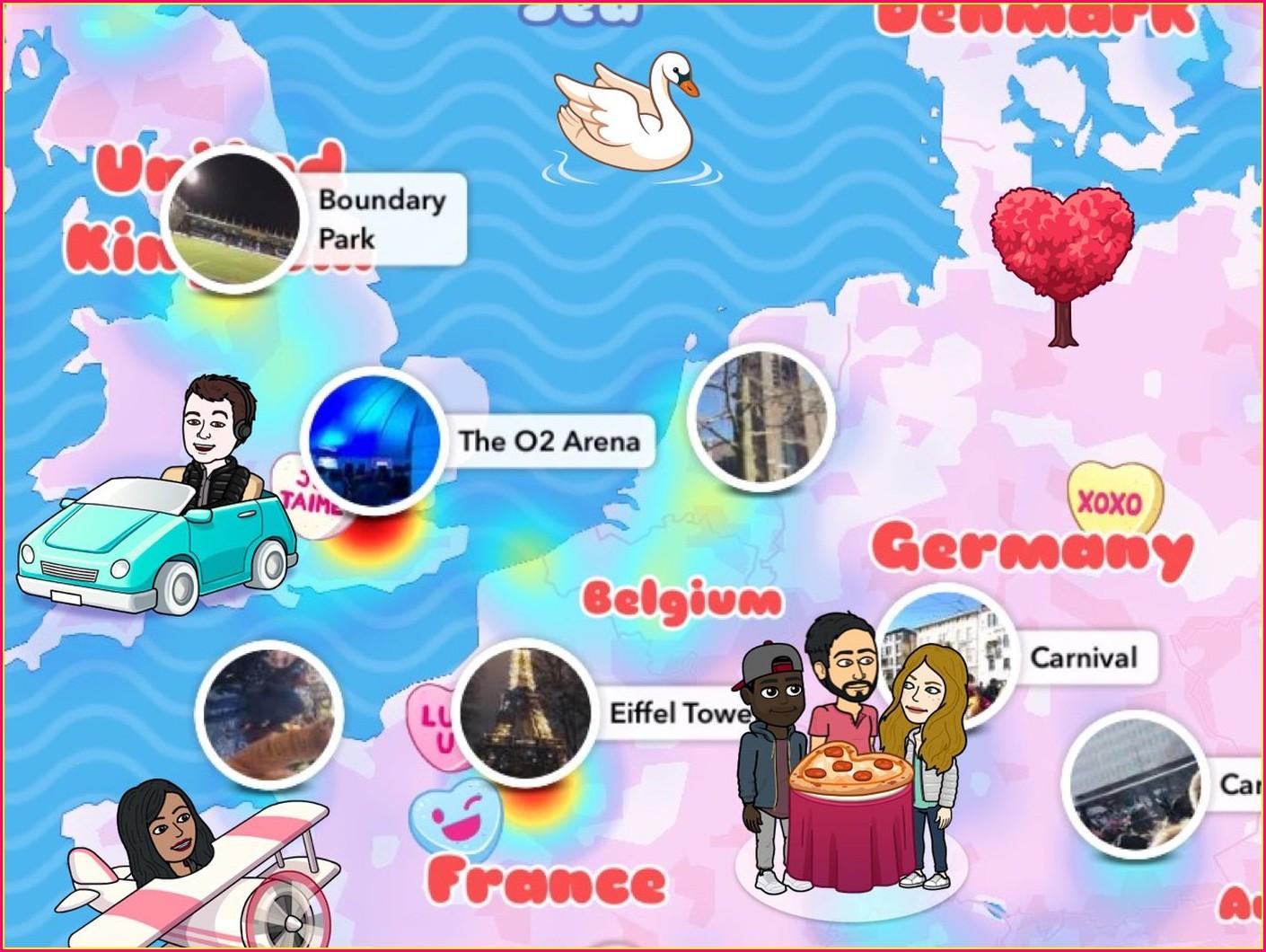 Snapchat Map Bitmoji Meanings Umbrella