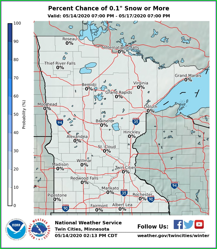 Snow Accumulation Map Mn