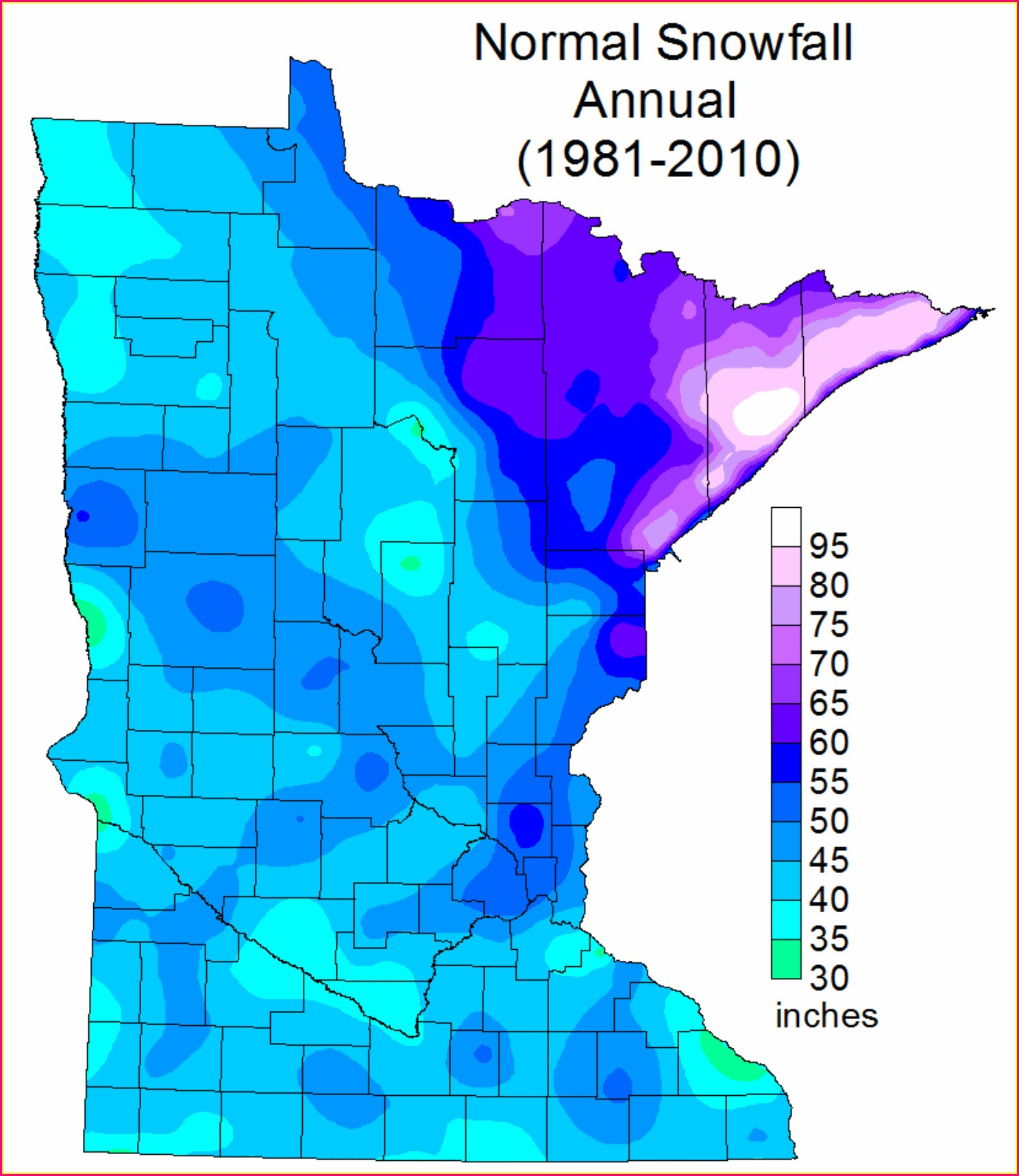 Snow Depth Map Mn Dnr