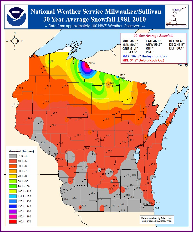Snow Forecast Map Wisconsin
