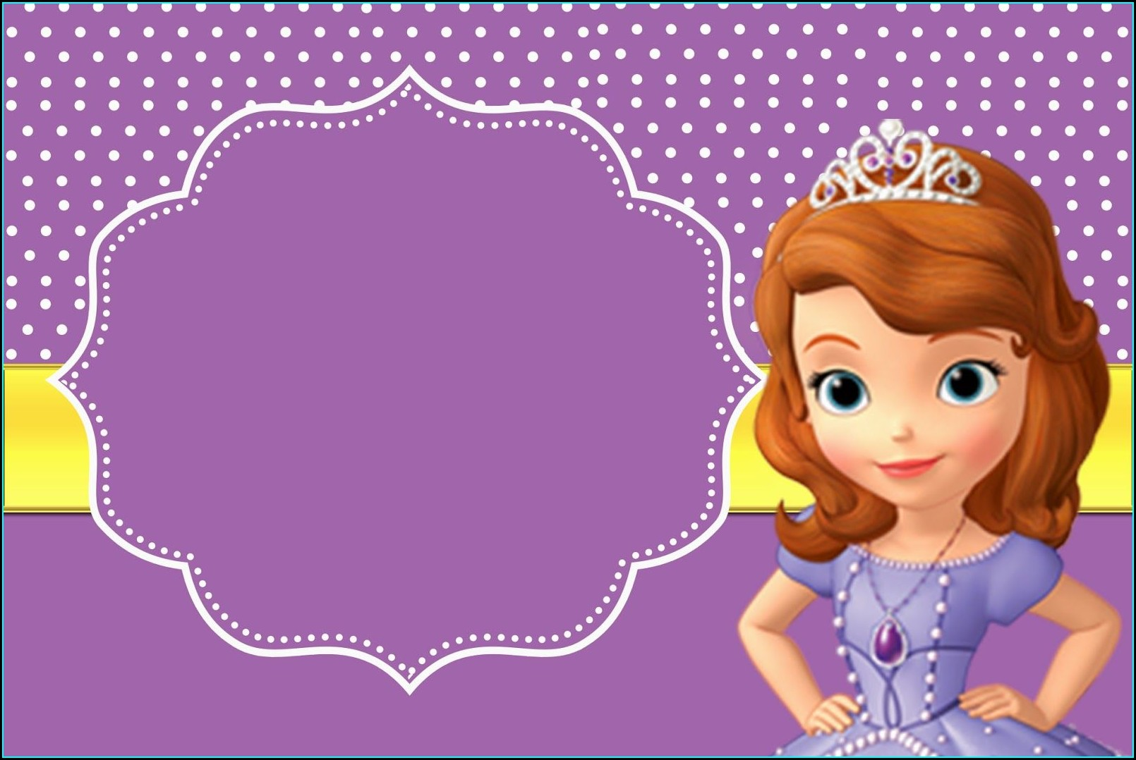 Sofia The First Printable Invitations
