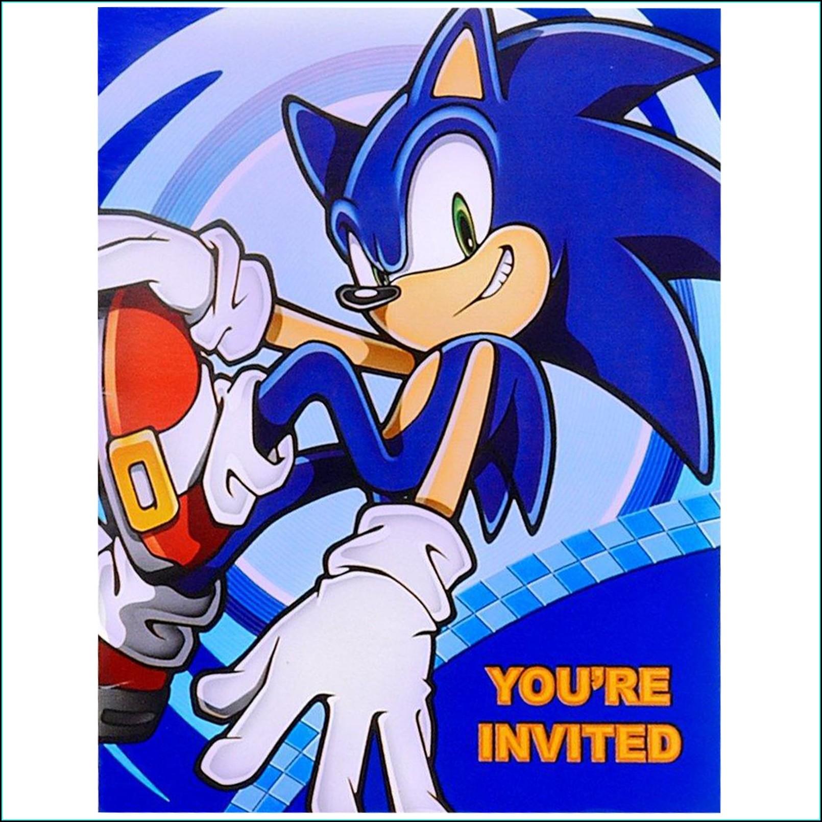 Sonic The Hedgehog Online Invitations