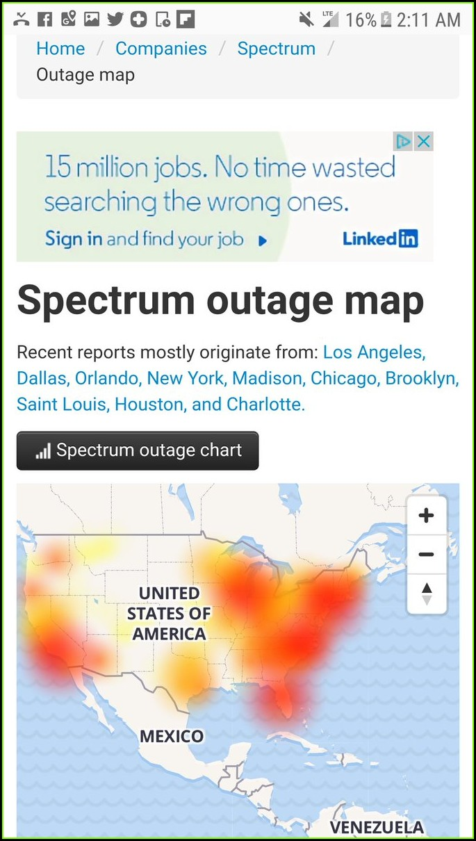 Spectrum Internet Outage Map Orlando