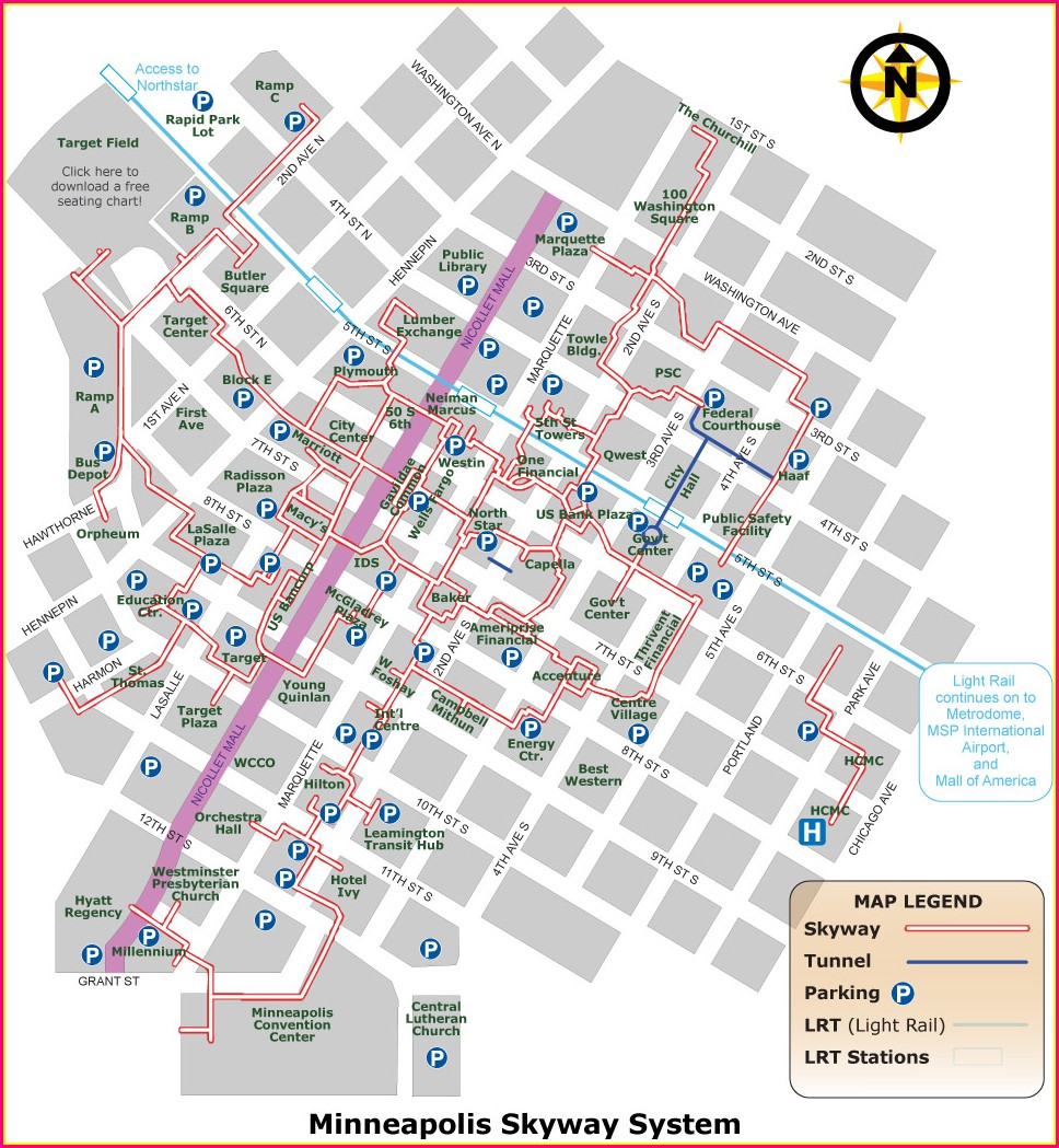 St Paul Skyway Map 2018