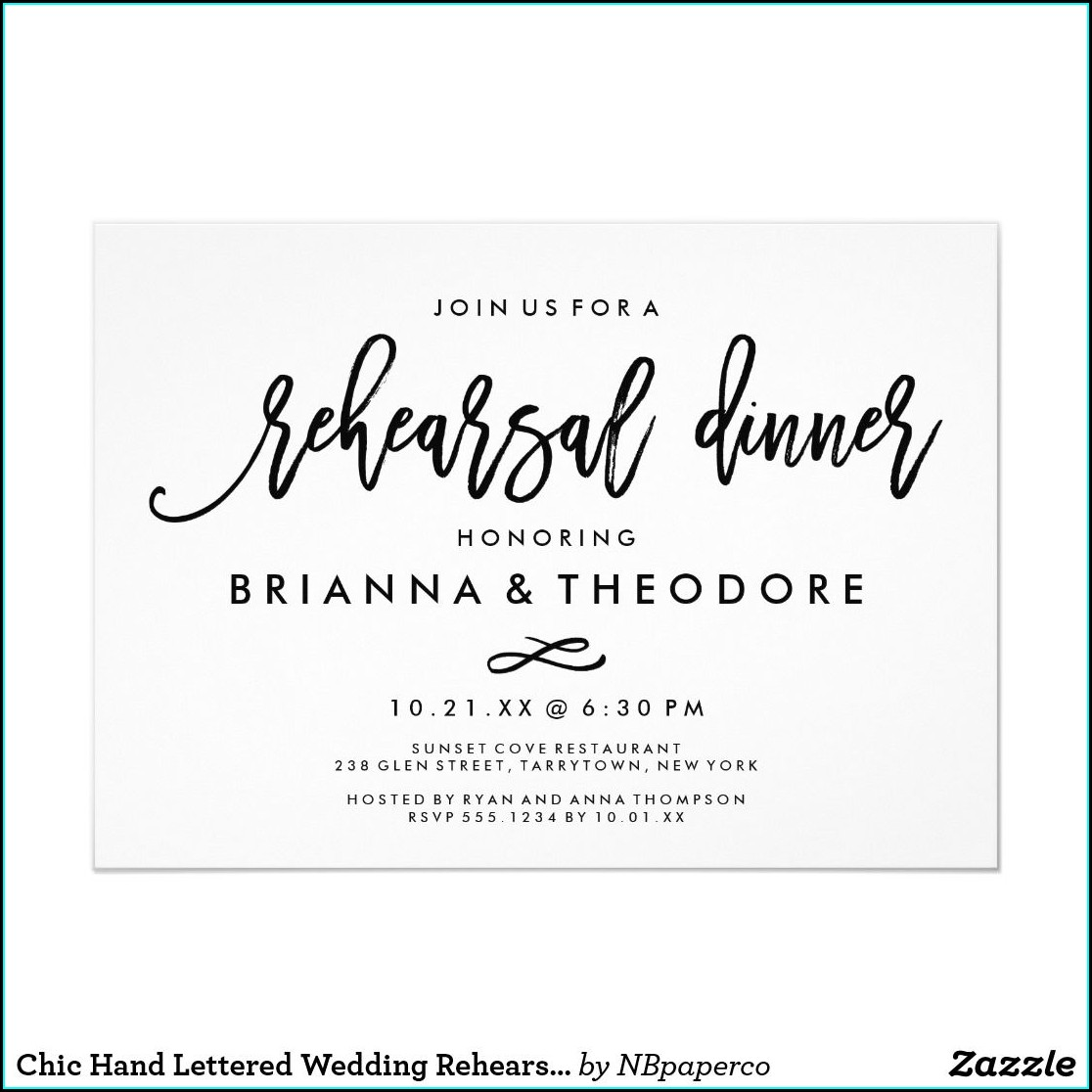 Staples Rehearsal Dinner Invitations