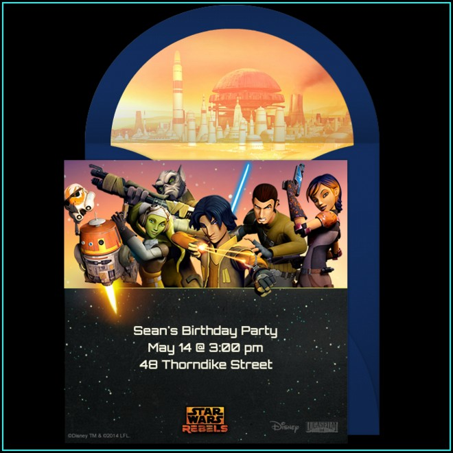 Star Wars Online Invitations Free