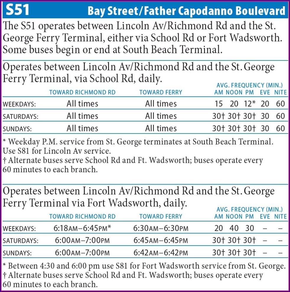 Staten Island Bus Map S51
