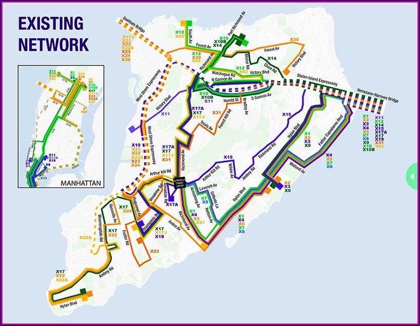 Staten Island Express Bus Map 2020