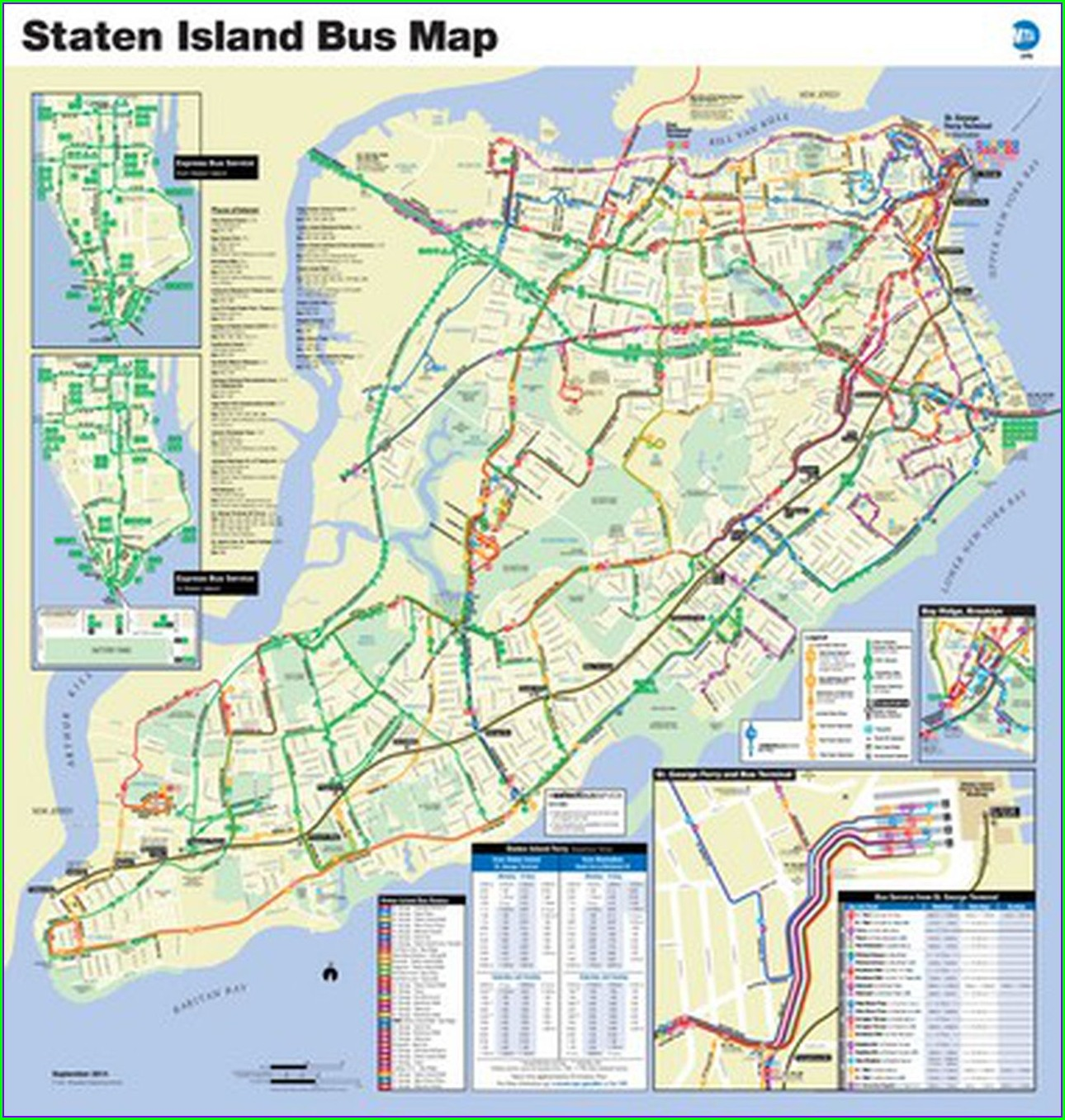 Staten Island Express Bus Map To Manhattan