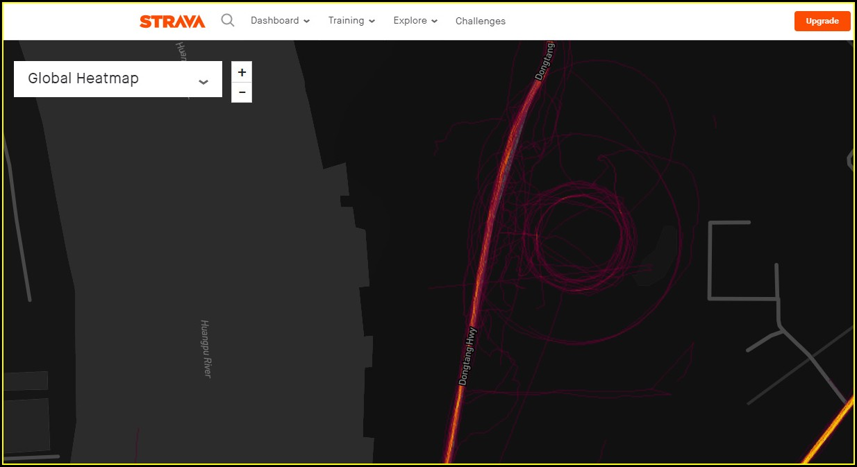 Strava Heat Map Underwater
