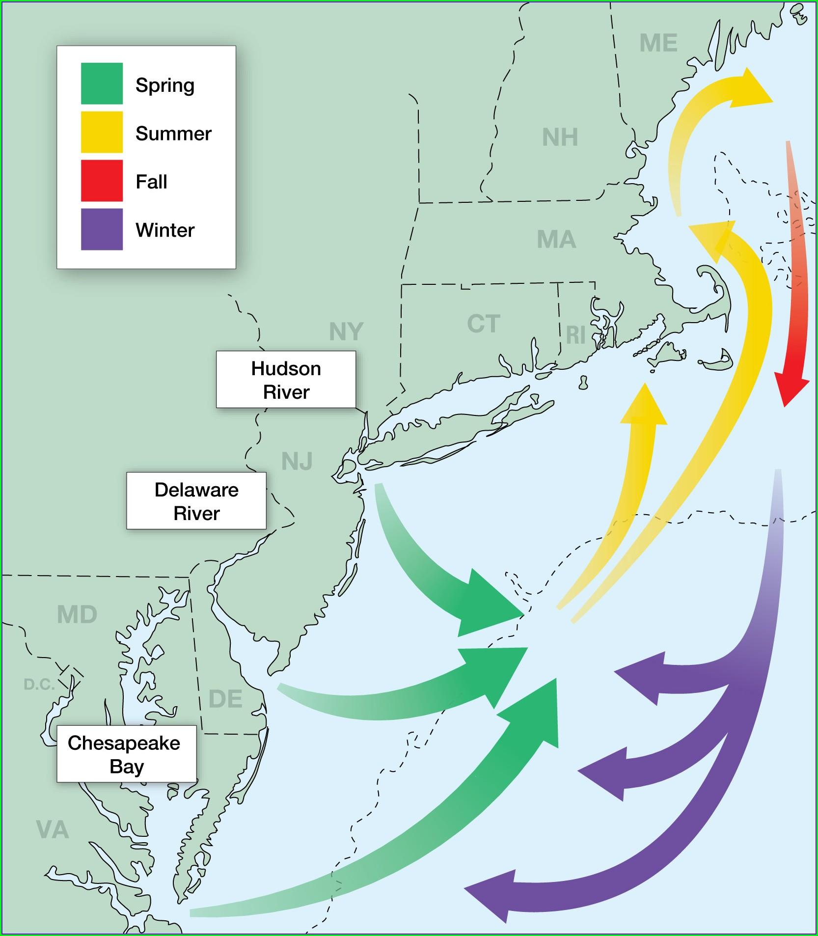 Striper Migration Map June 2019