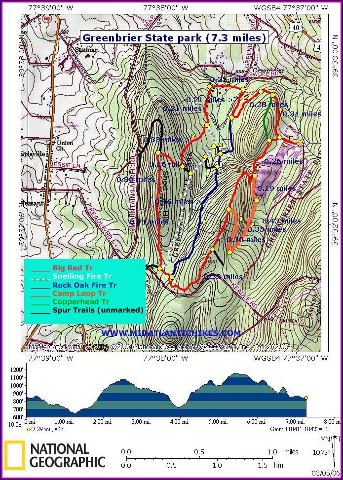 Sugarloaf Trail Map Maryland