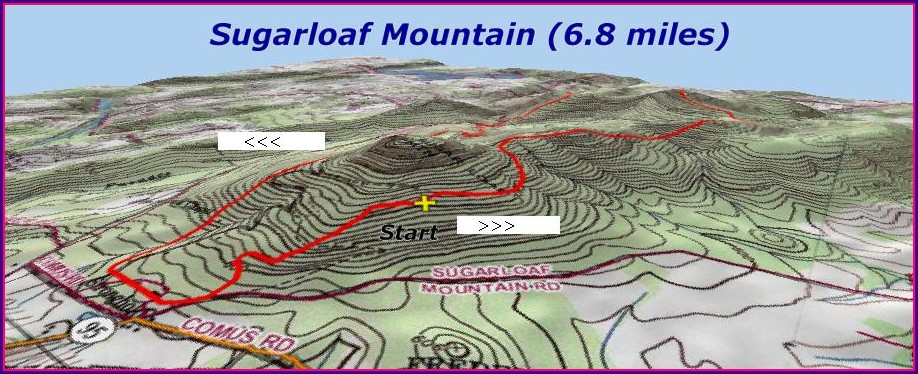 Sugarloaf Trail Map Md