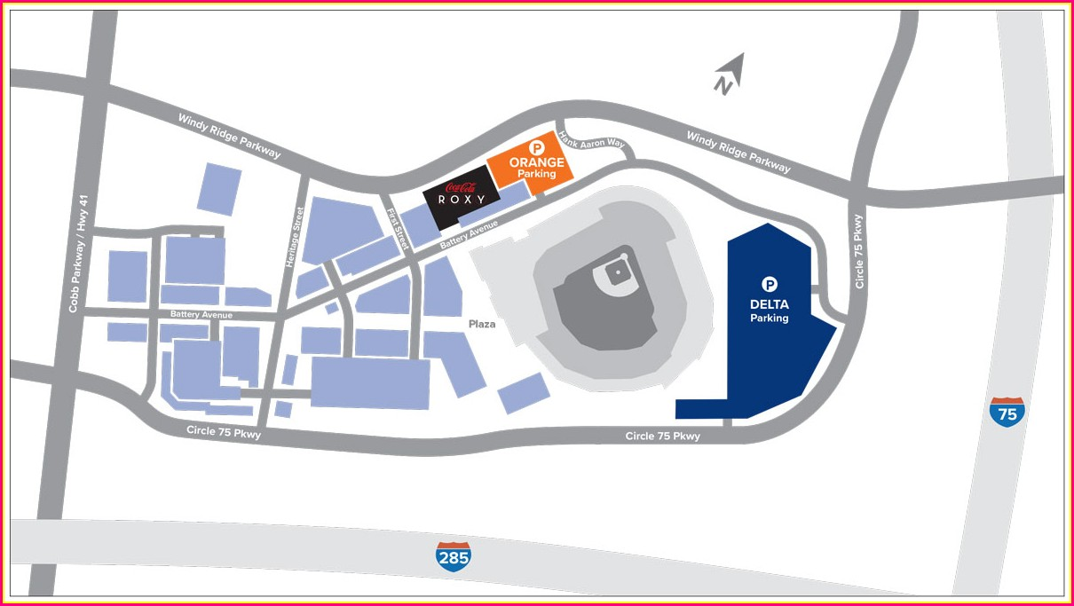 Suntrust Park Parking Lot Map