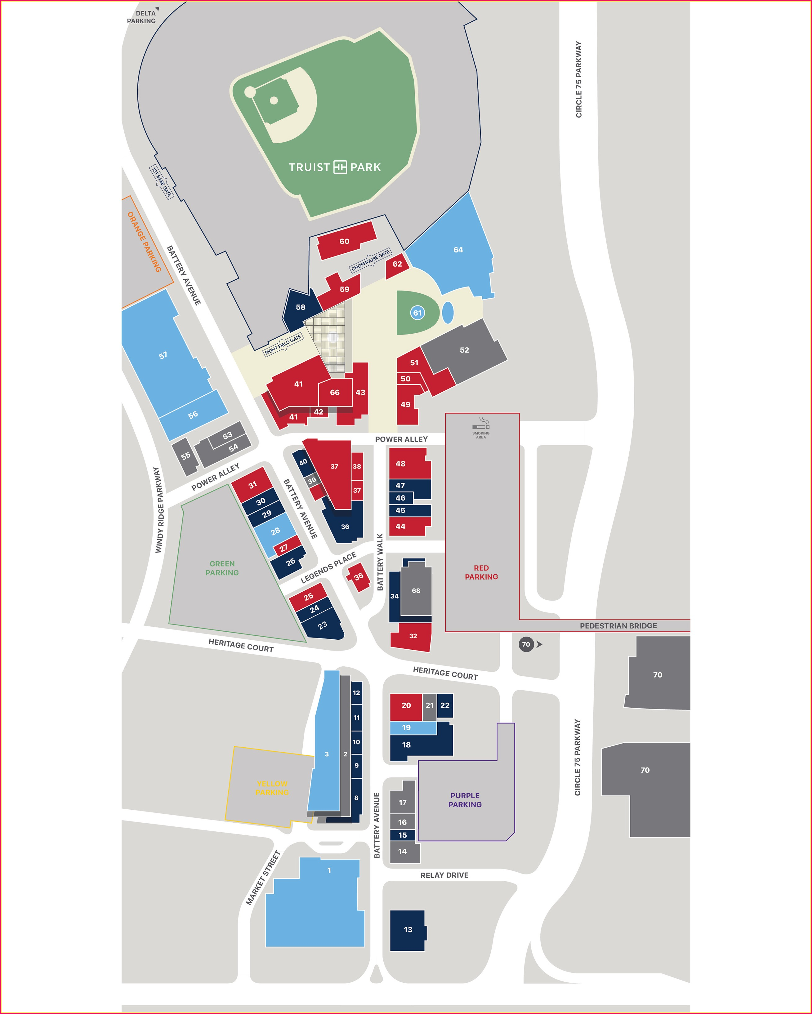 Suntrust Park Parking Map 2019