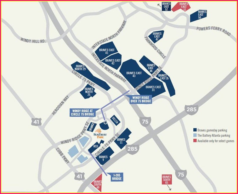Suntrust Park Parking Map