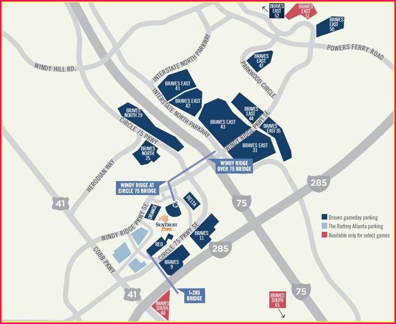 Suntrust Park Parking Map