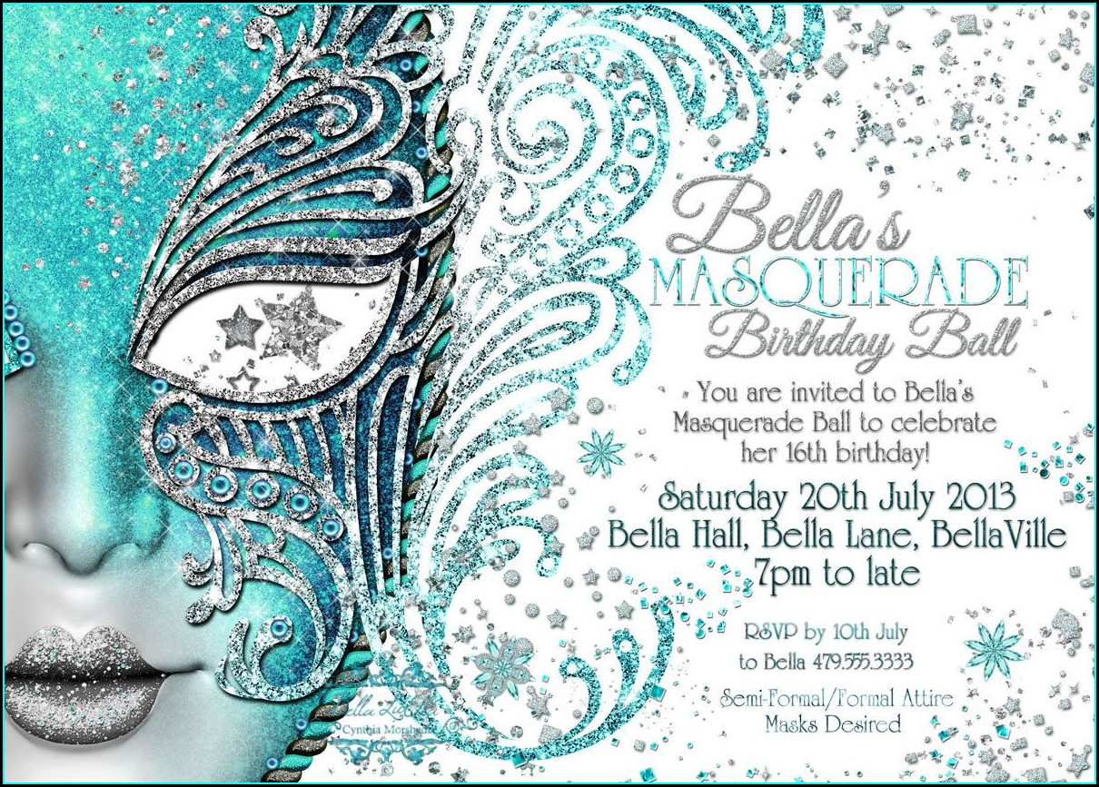 Sweet 15 Masquerade Invitations