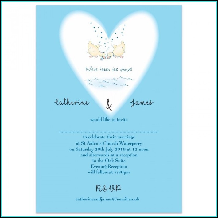 Taking The Plunge Wedding Invitations