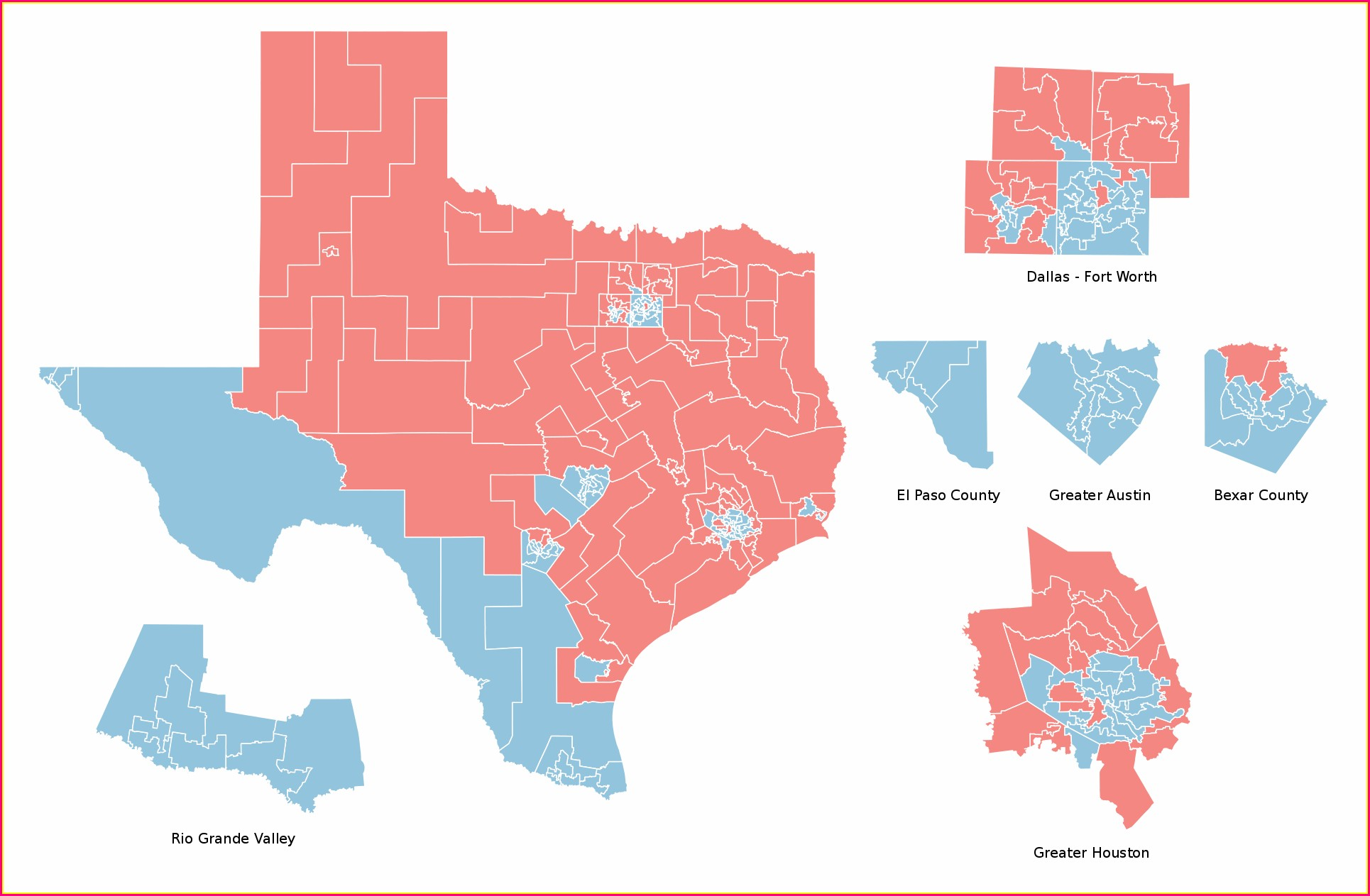 Texas House District Map 2018