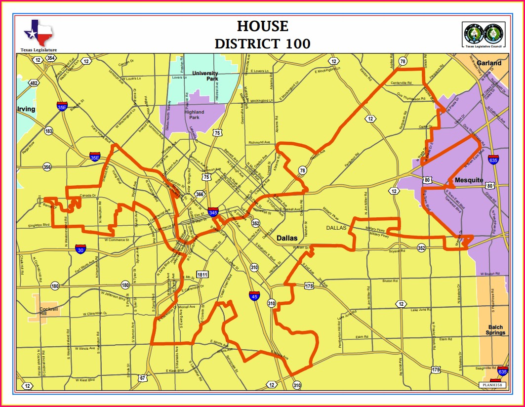 Texas House District Map 2020
