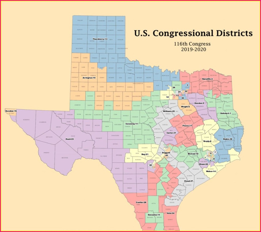 Texas State House Of Representatives District Map