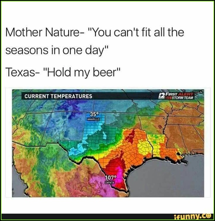 Texas Weather Map Meme