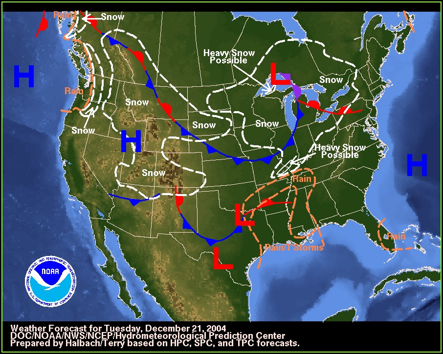 Texas Weather Map With Fronts