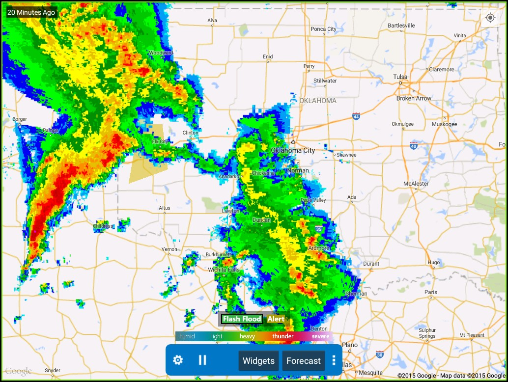 Texas Weather Radar Map