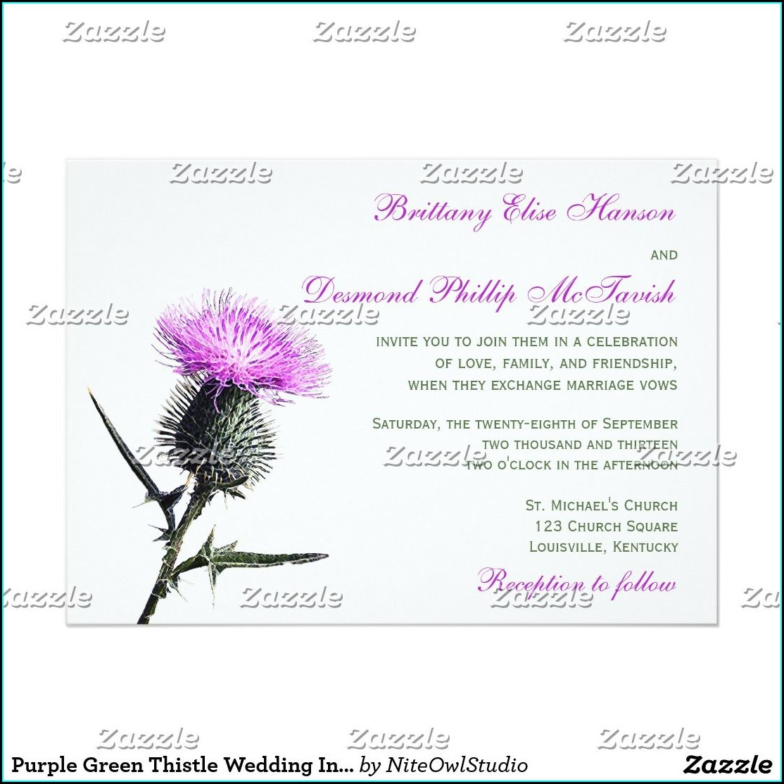 Thistle Wedding Invitations Uk