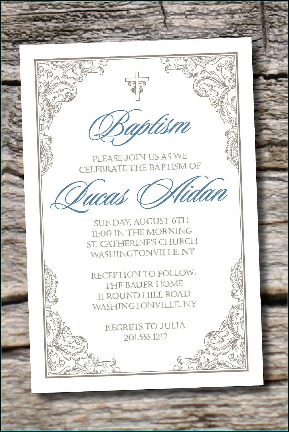 Tiny Prints Christening Invitations