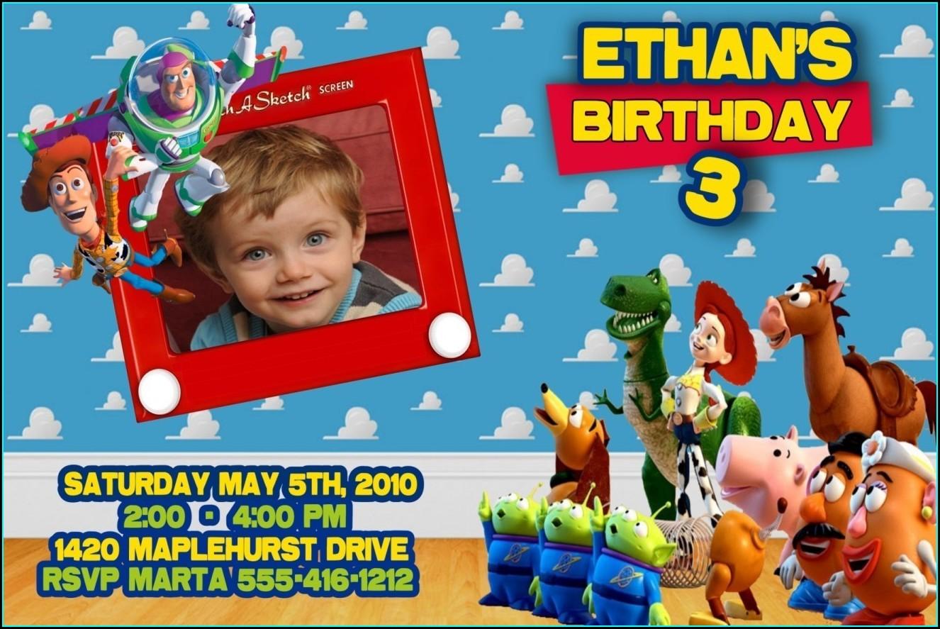 Toy Story Birthday Invitations Walmart