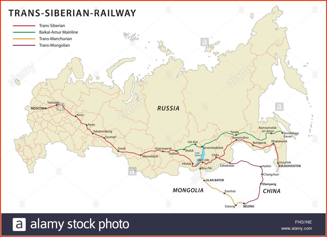 Trans Siberian Railway Map