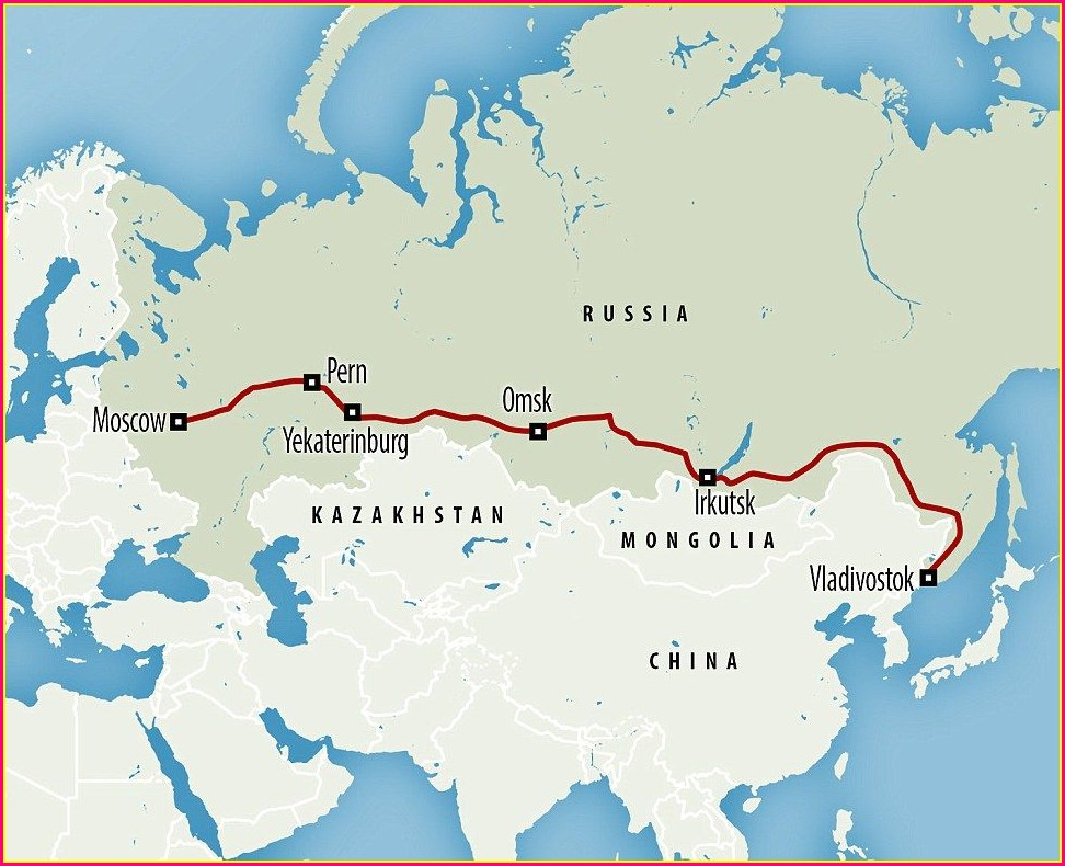 Trans Siberian Railway On World Map