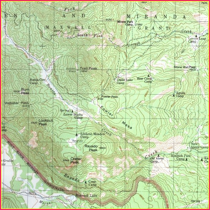Treks Philmont Scout Ranch Map